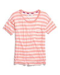 Madewell - Pink Slideshow Tee In Stripe - Lyst