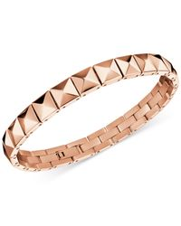 Calvin Klein Metallic Edge Rose Gold-tone Pvd Stud Bracelet Kj3cpb100100