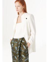 Mango White Premium - Wrapped Silk-Blend Blazer