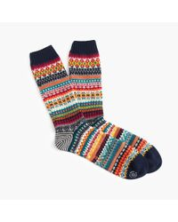 J.Crew | Blue Chup Triphon Socks for Men | Lyst