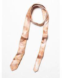 Free People | Pink Keaton Silk Tie | Lyst