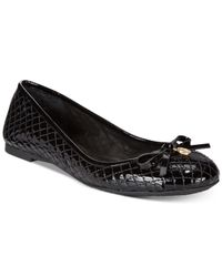 Michael Kors | Black Michael Melody Quilted Ballet Flats | Lyst