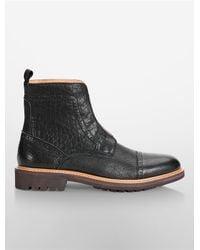 Calvin Klein | Black Jeans Tristram Lug Boot | Lyst