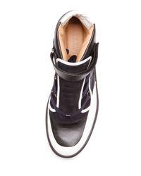 Bally Black Osman Paneled-Leather Sneakers  for men
