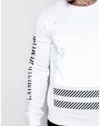 Criminal Damage | White Led Sweatshirt for Men | Lyst