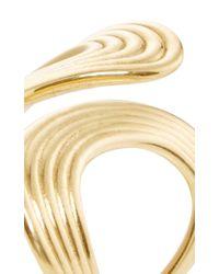 Fernando Jorge Metallic Gold Stream Lines Open Ring