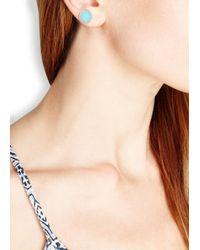 Marc By Marc Jacobs | Logo Disc-o Blue Enamel Stud Earrings | Lyst