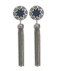 House of Harlow 1960 - Gray Sunburst Tassel Earrings - Lyst