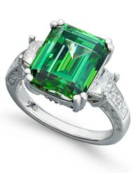 Arabella | Green Swarovski Zirconia Ring (12-9/10 Ct. T.w.) | Lyst