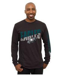 Junk Food Black Men's Long-sleeve Philadelphia Eagles Top Shelf T-shirt for men
