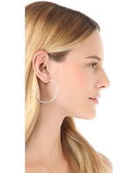 Gorjana | Metallic Arc Large Hoop Earrings - Silver | Lyst