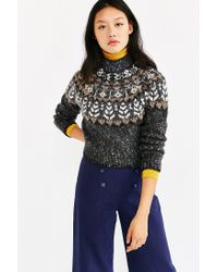 Kimchi Blue Gray Up North Sweater