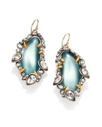 Alexis Bittar - Blue Lucite Crystal Cluster Framed Drop Earringsantiqued Silvertone - Lyst