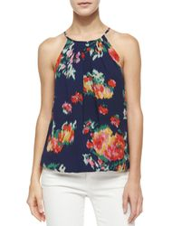 Joie - Multicolor Anatese B Floral Ikat-print Top - Lyst
