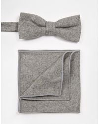 Minimum - Gray Tie And Pocket Square for Men - Lyst