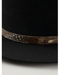 Saint Laurent | Black Flat Brimmed Hat for Men | Lyst