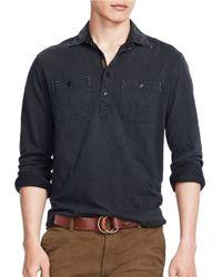 Polo Ralph Lauren | Black Jersey Pullover Sportshirt for Men | Lyst