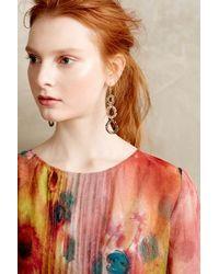 Anthropologie - Metallic Beaded Lochan Earrings - Lyst