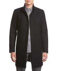 Theory Black 'belvin' Wool Blend Car Coat for men