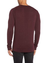 Calvin Klein Brown Caleb V Neck Long Sleeve Sweater for men
