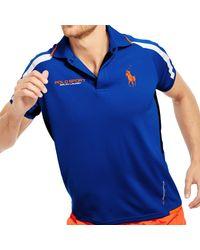 Ralph Lauren | Blue Mesh-paneled Jersey Polo Shirt for Men | Lyst
