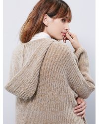 Free People - Natural Womens End On End Cardi - Lyst