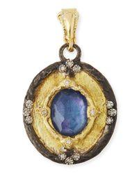 Armenta - Blue Triplet Diamond Enhancer Pendant - Lyst