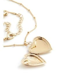 Ana Accessories Inc | Metallic Be Still My Locket Necklace | Lyst