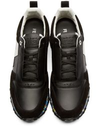 Fendi Black And Multicolor Running Sneakers for men