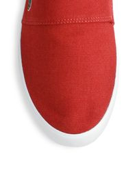 Lacoste - Red Maurice Slip-On Sneakers for Men - Lyst