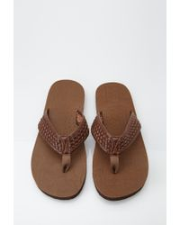 Forever 21 | Brown Basket Woven Flip Flops for Men | Lyst
