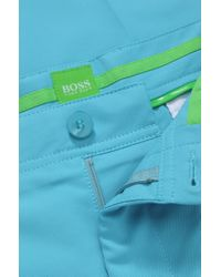 BOSS Green - Blue 'hakan' | Slim Fit, Coolmax Performance Golf Pants for Men - Lyst