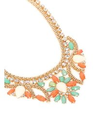Kenneth Jay Lane | Multicolor Crystal Stone Necklace | Lyst