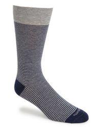 Etiquette - Gray 'thousand Stripes' Socks for Men - Lyst