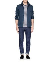Sunspel - Blue Stripe T-shirt for Men - Lyst