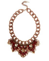 Karen Millen | Red Statement Necklace | Lyst