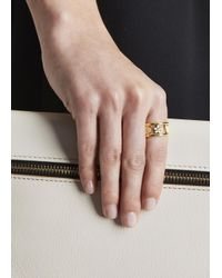 Marc By Marc Jacobs - White Happy House Gold Tone Ring - Lyst