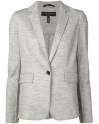Rag & Bone - Gray Single-Button Wool Blazer - Lyst