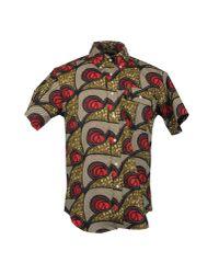 Woolrich | Red Short Sleeve Shirt for Men | Lyst