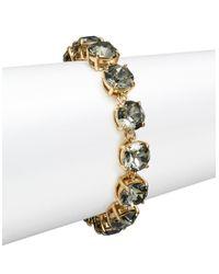 kate spade new york | Black Fancy That Smokey Crystal Bracelet | Lyst