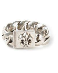 Chrome Hearts - Metallic Rolo Chain Fleur-de-lis Bracelet - Lyst