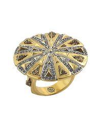 House of Harlow 1960 - Metallic Ornamental Medallion Ring - Lyst