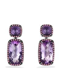 David Yurman | Purple Châtelaine Double-drop Earrings With Amethyst And Pink Sapphires | Lyst