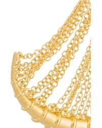 Arme De L'Amour | Metallic Bamboo Fringed Gold-plated Earrings | Lyst