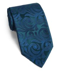 Charvet - Green Silk Abstract Floral Tie for Men - Lyst