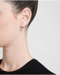 Yvonne Léon Metallic 18k Gold Five Diamond Lobe Earring