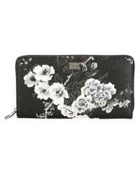 Dolce & Gabbana - Black Rose Garden Print Wallet for Men - Lyst