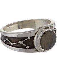 Pamela Love - Metallic Gemini Ring, Men's, Size: Q, Antique Silver With Li - Lyst