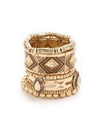 Samantha Wills - Metallic The Bracelet Set - Shiny Gold - Lyst