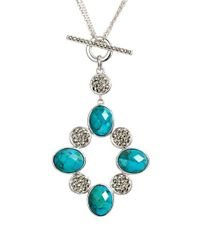 Judith Jack | Blue 'alluring Oasis' Convertible Pendant Necklace | Lyst